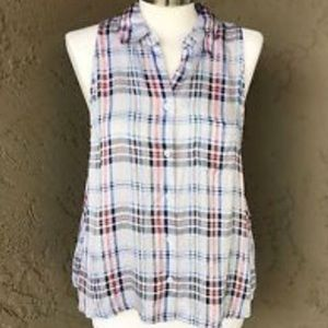 White Equipment Button Up Tank